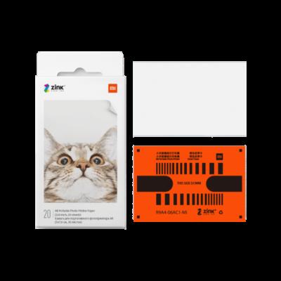 Xiaomi Mi Portable Photo Printer Paper – Papel fotográfico (20 hojas)