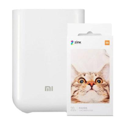 Xiaomi Mi Portable Photo Printer Pack + Papel(20 sheets)
